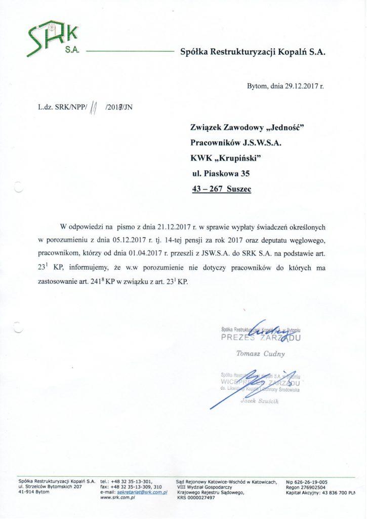 14-stka i węgiel dla przechodzących do SRK z Krupińskiego – informacje